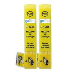 2 Yellow Ink Cartridges non-OEM to replace T1284 Fox Compatible for Printers $6.45