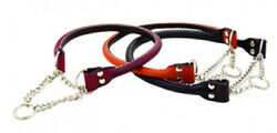 Auburn Leathercrafters QUALITY Rolled Leather Martingale Dog Collars 9 SIZES $52.00