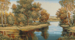 35quot; WALL TAPESTRY Golden Forest EUROPEAN DECOR LANDSCAPE PICTURE $42.98
