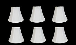 Urbanest Chandelier Lamp Shades Set of 6 Soft Bell 3quot;x 6quot;x 5quot; White $32.99