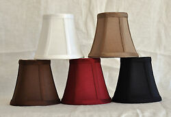 Urbanest Chandelier Lamp Shade Bell Silk Softback w Double Trim 3quot;x5quot;x4.5quot; $7.59