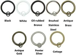 Urbanest Metal Curtain Drapery Rings with Eyelets1 1 2quot; Inner Diameter set of 7 $7.50