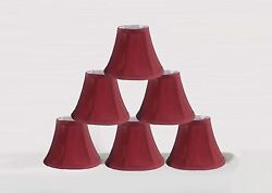 Urbanest Chandelier mini Lamp Shades Set of 6 Soft Bell 3quot;x 6quot;x 5quot; Burgundy $31.99