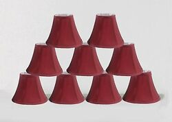 Urbanest Chandelier mini Lamp Shades Set of 9 Soft Bell 3quot;x 6quot;x 5quot; Burgundy $50.99