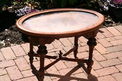 Petite antique table with removable top $69.00
