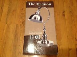 quot;The Madisonquot; Dual Adjustable Lamp with Durable Metal Finish $38.00