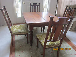 Antique table with four chairs $1500.00