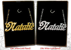 Name Necklace NATALIE 18k Gold Plated Personalized Gifts Fashion Jewelry