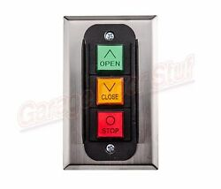 Commercial Garage Door Opener 3 Button Wall Mount PBC 3 3 Control Station