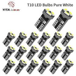 20x Pure White T5 74 73 Wedge 3-SMD LED Bulb Instrument DashBoard Gauge Light $6.59