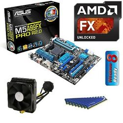 AMD FX 9590 Eight CORE CPU ASUS 990FX MOTHERBOARD 16GB DDR3 MEMORY RAM COMBO KIT