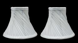 Urbanest Swirl Pleated Chandelier Lamp Shades Bell 3quot;x6quot;x5quot; Off White set of 2 $23.74