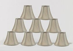 Urbanest Chandelier Mini Lamp Shade Softback Bell Champagne 3quot;x6quot;x5quot; set of 9 $46.99