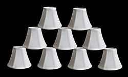 Urbanest Chandelier Mini Lamp Shades5quot;Bell Silk White w Double TrimSet of 9 $48.99