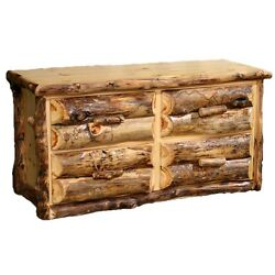 4 Drawer Log Dresser - Country Western Rustic Cabin Dresser Bedroom Furniture