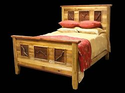 Country Bed Frame - Western Rustic Cabin Log Wood Bedroom Furniture Decor