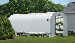 12x24x8 ShelterLogic RoundTop Organic Greenhouse Portable Pro Series  70593