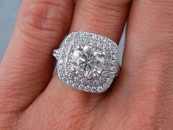 2.40 CARATS CT TW ROUND CUT DIAMOND ENGAGEMENT RING G SI2