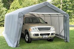 12x20x8 Peak ShelterLogic Shelter Portable Garage Carport Canopy Instant 71434