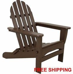 Adirondack Patio Outdoor Polywood Furniture Folding Chair New Ecofriendly Brown