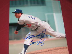 LA DODGERS PITCHING GREAT TOMMY JOHN AUTOGRAPH PHOTO INSCRIBED