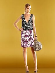 $1800 NEW Authentic Gucci Runway Silk Floral V-Neck Dress 284032