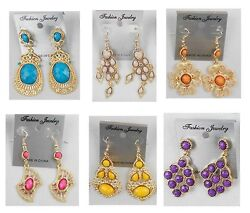 A 22 Wholesale lots 10 pairs Mixed Style Drop Dangle Fashion Earrings