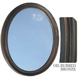 Bathroom Mirror Vanity Oval Framed Wall Mirror Oil Rubbed Bronze $88.69