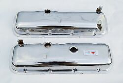 65-81 Corvette Chevrolet Chrome Valve Covers BBC 396 427 454 Drippers FREE DECAL