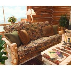 Rustic Log Futon - Country Western Cabin Wood Living Room Furniture Decor