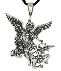 Sterling Silver 925 Archangel San St. Saint Michael Charm Pendant   Made In USA $16.99