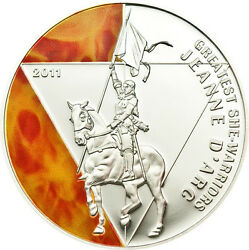 JEANNE DARC Greatest She Warriors Togo 2011 Silver Coin
