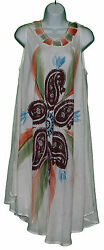NEW India Sundress FITS 1 X 2X 3X Loose Dress Long Plus Lagenlook Paisley $24.99