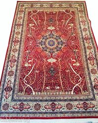 Private Collection Mashhad Persian Rug 11x17-100 Raj RED 1300 KPSI One of a kind