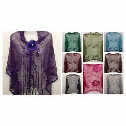 Sequin Glitter Beaded Shawl Scarf Wrap Veil Formal Evening Party Prom Wedding $10.45