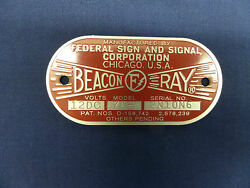 Federal Sign and Signal Model 176 A Beacon Ray Replacement Badge $25.50