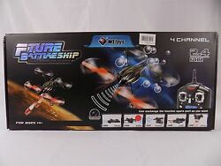RC Helicopters Quadcopter Fture Battleship W Bubbles $79.99