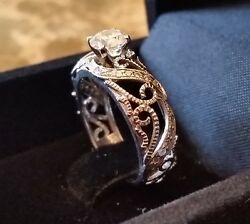 .93ct. Round Diamond Engagement Ring Size 7 GIA and AGS appraised at $6400