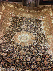 One of a Kind Masterpiece Mashhad Oversize Persian Rug - 110 Raj - 1500 KPSI