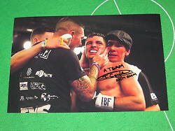 Hull Boxer Tommy 'Boom Boom' Coyle Signed & Inscribed Fight Victory Photograph