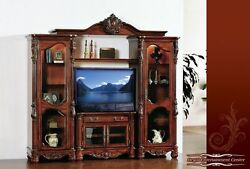 Meridian Furniture Regal-ENT Solid Wood Traditional Cherry Entertainment Center