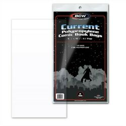 100 BCW Current Modern Comic Book Poly Bags Acid Free Backer Boards sleeves $23.99