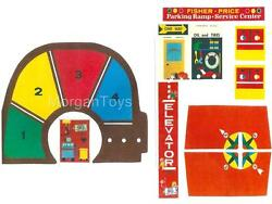 Vintage FISHER PRICE Little People GARAGE 930 REPLACEMENT LITHOS STICKERS DECALS $12.99