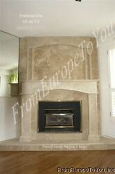 BEAUTIFUL CARVED MARBLE FIREPLACE MANTEL AND SURROUND