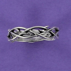 Crown of Thorns Ring Sterling Silver Jesus Crucifixion Easter Resurrection Faith