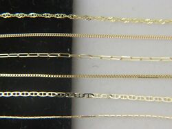 Solid 10k yellow gold Chain Necklace Box chain Rope chain Cable chain 10kt gold $70.95