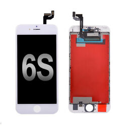 White LCD Screen 3D Touch Digitizer + Bezel Frame Assembly For iPhone 6S 4.7 $14.99