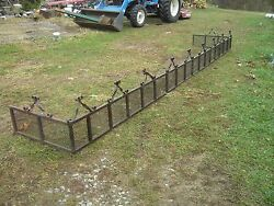 Wrought Iron Fence Scroll Work Railing PorchGarden Architectural Salvage rare