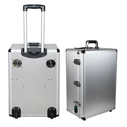 Dental DELIVERY UNIT Air COMPRESSOR Mobile Cart Case Complete Set Tube Bottle A+