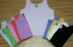 100% Cotton Ladies Crop Jersey Tank Top. Made in USA $6.95
